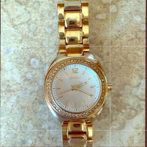 Accessories - DKNY Glitz Mother of Pearl Gold Watch